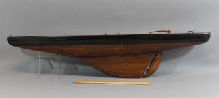Large Nautical Maritime Vintage Sailboat Pond Model, photo