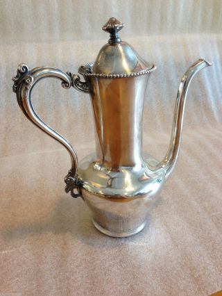 Forbes Silver Co.  Antique Coffee Pitcher In Quadruple Silverplate,  No.  613 photo