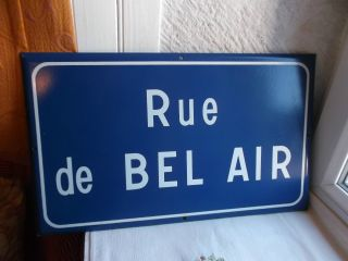 French Porcelain Enamel Blue And White Authentic Street Sign