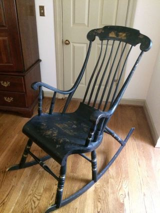Antique Swedish Rocking Chair Vadstena Abbey 1800 ' S Unique Quality photo