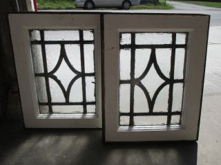 Antique Stained Glass Windows 13.  5 X 17.  25 Architectural Salvage photo