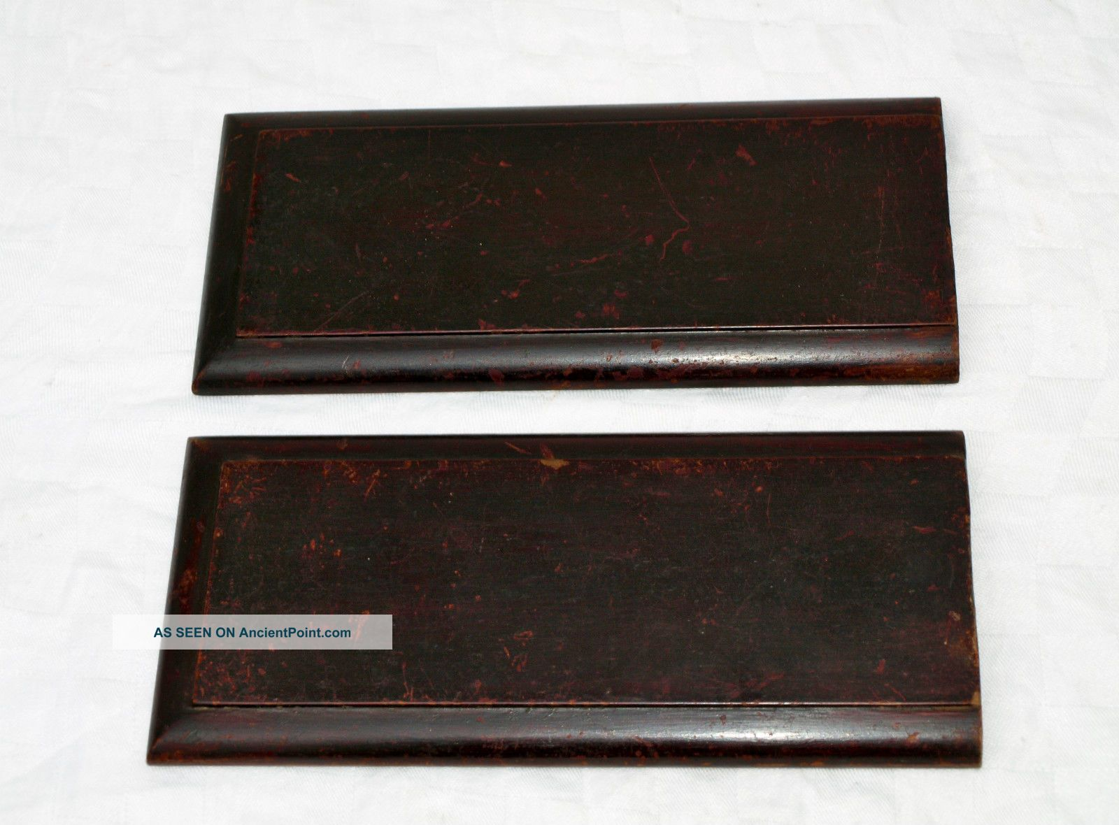 Antique Pair Reclaimed Wooden Panels Plaques Boards Plaques photo