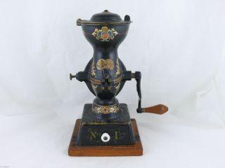 Antique Enterprise No.  1 Coffee Grinder,  19 Decals photo