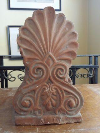 Old Antefix Akrokeramo Greece Greek Ceramic Floral Design Anthemio - Letters A - N photo
