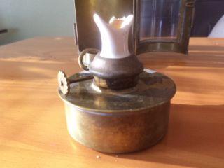 Antique Brass Nautical Binnacle Lantern Porcelain Sherwoods Burner Ship Maritime photo
