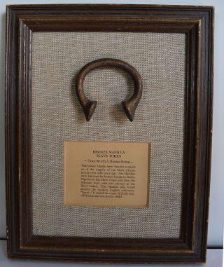 Antique Bronze Manilla Slave Token From English Schooner Sunk 1843 Authenticity photo