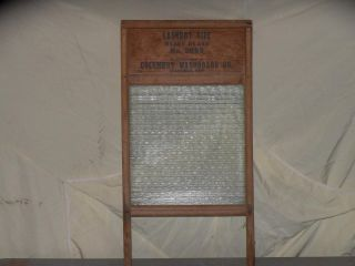 Vintage Columbus Washboard Laundry Size Heavy Glass No.  2085 Usa 26