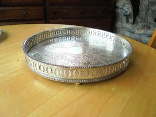 Sheffield Silver Plated On Copper Gallery Tray photo