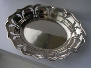 Decorative Vintage Solid Silver Bon Bon Dishes Birmingham 1959 photo