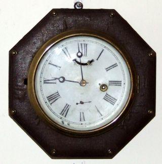 Antique 1865 Jerome Marine Maritime Ship Boat Clock Nautical Wall Clock photo