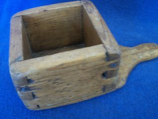 Antique Wooden Box With Handle photo
