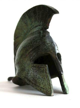 Ancient Greek Bronze Miniature Helmet Bronze Oxidization 1369 photo