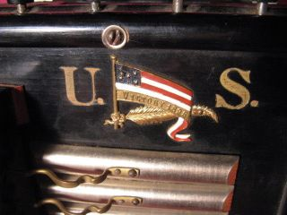 Rare 1898 Us Victory Spanish American War Contra Organ Accordion photo