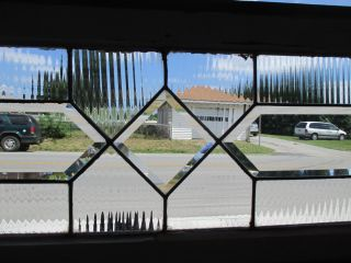 Antique American Beveled Glass Transom Window 66 X 14 Architectural Salvage photo