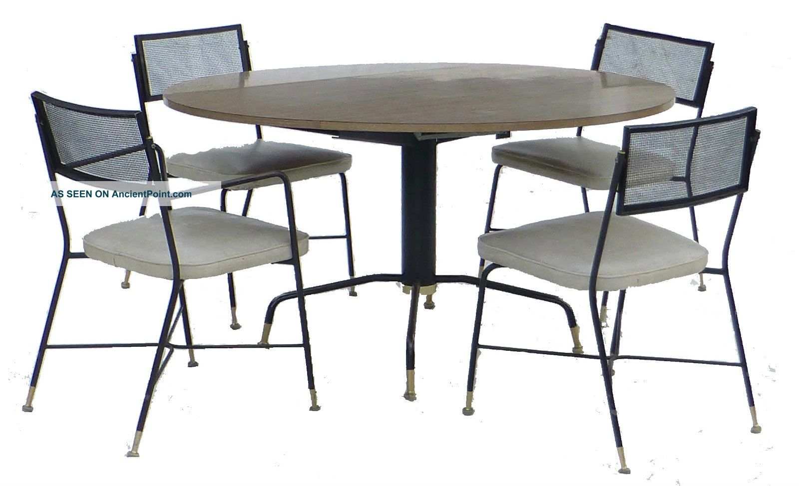 Mid Century Troy Sunshade Company Dining Table And Chairs (4) Retro Post-1950 photo