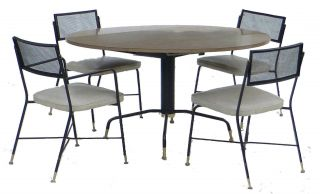 Mid Century Troy Sunshade Company Dining Table And Chairs (4) Retro photo