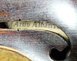 Antique Tyrolean Violin Labeled Albani 1701 - Really Big Sound Clear,  Strong Tone photo