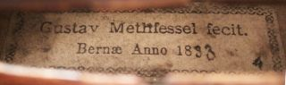 Antique Gustav Methfessel 4/4 Labeled Old Master Violin photo
