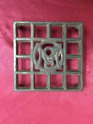 Antique Ober Omco Small Stand Sadiron Trivet 3 1/8