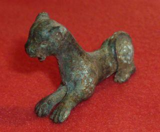 Roman Ancient Artifact Bronze Animal Statue / Statuette Circa 200 - 300 Ad - 2847 photo