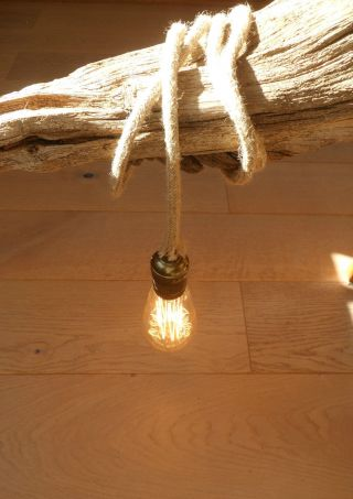 5 Mtr Jute Rope Covered 2 Core Light Flex Wire Cord Hanging Lamp Pendant Ceiling photo