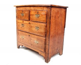 Antique Pine Chest Of Drawers 19th Century Bedroom Chest Victorian Edwardian photo