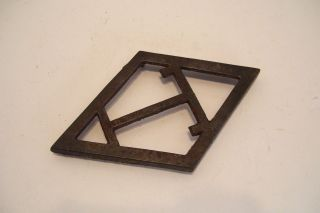 Antique Cast Iron Trivet T Diamond Shape - Eatons Or Taylor Forbes Guelph photo