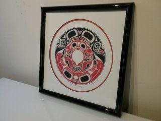 Haida Danny Dennis ' Limited Ed.  Signed Print 1988 ' S