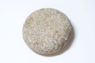 Rare Ancient Hawaii Small Ulumaika Game Stone Disc 5 - photo