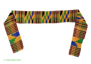 Kente Cloth Scarf Textile Maroon Ghana African Art photo
