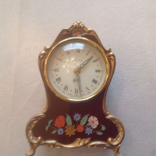 Vintage Musical Dresser Clock Made In Germany One Owner Wind Up Perfect photo