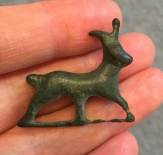 Roman.  Bronze Stag Brooch,  2nd Century A.  D. photo