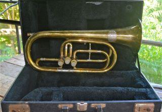 Vintage C.  G.  Schuster Berliner Valve Pumpen Horn Plays Well Made In Germany $500 photo