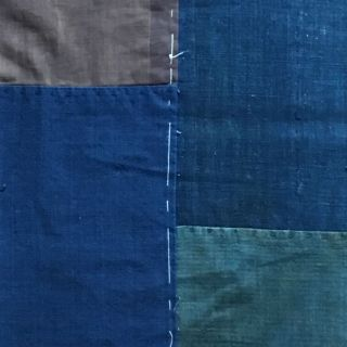 Japanese Antique Solid Indigo Japan Blue Cotton Boro Textile 081012 photo
