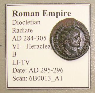 Ad 284 - 305 Diocletian Ancient Roman Antoninianus Au photo