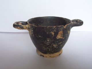 Ancient Greek Pottery Skyphos C.  5th - 4th Century B.  C.  For Restoration photo