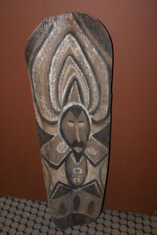 3 Abelam Haustambaran Nggwalndu Sago Bark Panels Handpainted Pangal Sepik Guinea photo