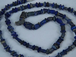 Ancient Lapis Lazuli Beads Strand Islamic 900 Ad Br2072 photo