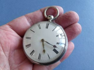 Antique Silver Fusee Verge Pocket Watch ' Jn Head,  Binham ' 1841 - Gwo photo