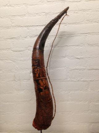 Cameroon: Tribal African Ngoni Bamun Music Instrument - Horn. photo