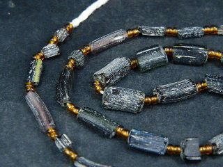 Ancient Fragment Glass Beads Strand Roman 200 Bc Be1376 photo