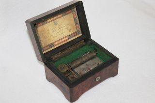 Antique 1890 ' S Airs Swiss Wood Wind - Up Music Box 5072