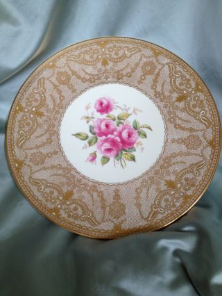 Antique Copeland Spode Davis Collamore Gold Handpainted Signed Cabinet Plate photo