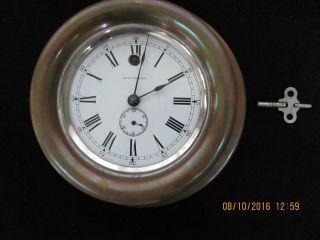 Antique Seth Thomas Ship ' S Clock photo