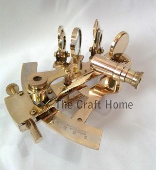 Nautical Brass Sextant 5