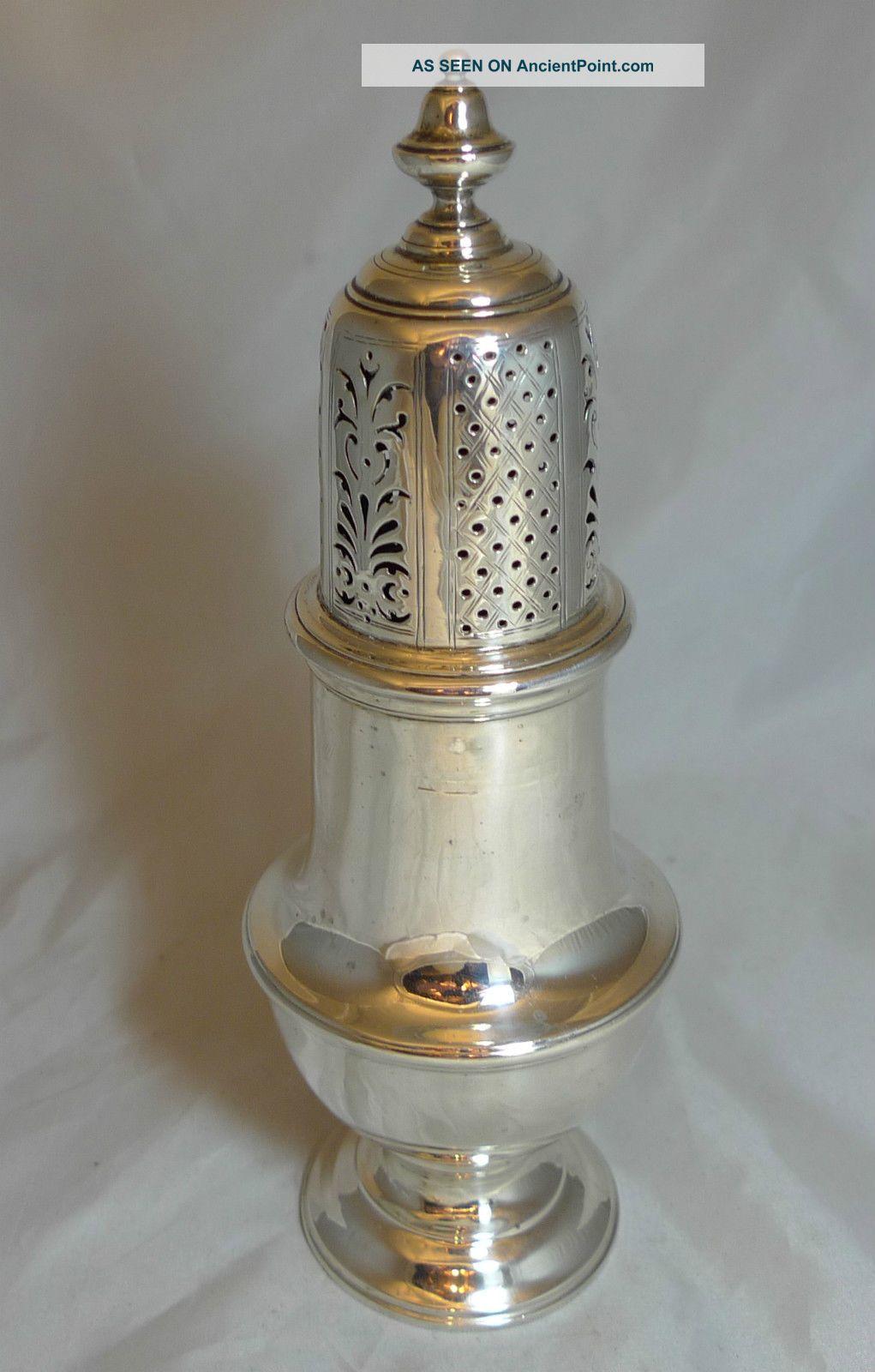 Art Deco Silver Sugar Shaker By Asprey 1918 227g 20cm Salt & Pepper Shakers photo