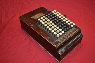 Felt & Tarrant Comptometer - Vintage Adding Machine - 1912 photo