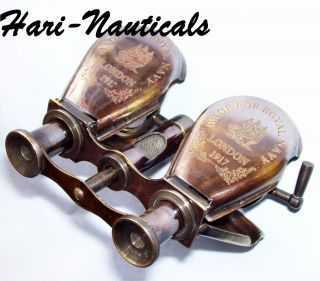 Brass Monocular Binocular Telescope Vintage Antique Nautical Spyglass Scope photo