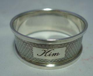 Vintage Silver Napkin Ring Kim Broadway & Co 1955 11g photo