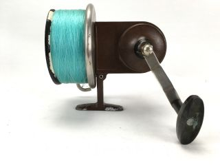 Vintage Seamartin Monarch Fishing Reel Spool Solid 1970s Sports Fish Eggbeater photo